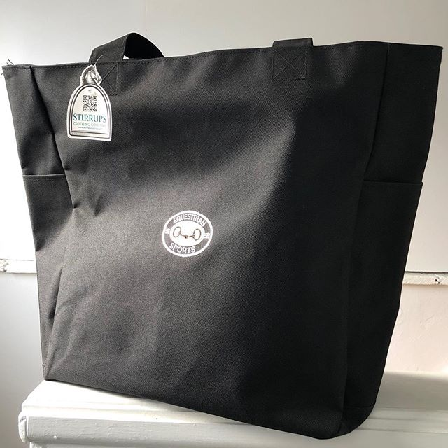 #youknowyouwantit Wednesday!! Is that a thing? It is today I guess. I have one Equestrian Sports Tote Bag by Stirrups Clothing Company left from last year. Holds all your things on show days so you can easily hand it to your significant other or bored show dad to carry. Give them something to do. A must have. 👜💁🏻♀️ $30.00 FREE shipping anywhere in the lower 48. Pay pal only, yo! DM to purchase! 🐎 . . . 🐴 #equestrian #equestrianlife #equine #equestrianblogger #barnlife #horsesofinstagram #equestrianfashion #equestriansports #showday #showdaytote