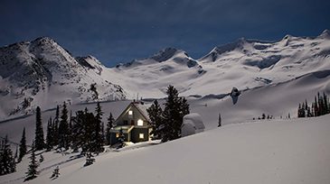 sorcerer lodge backcountry skiing mountains guided