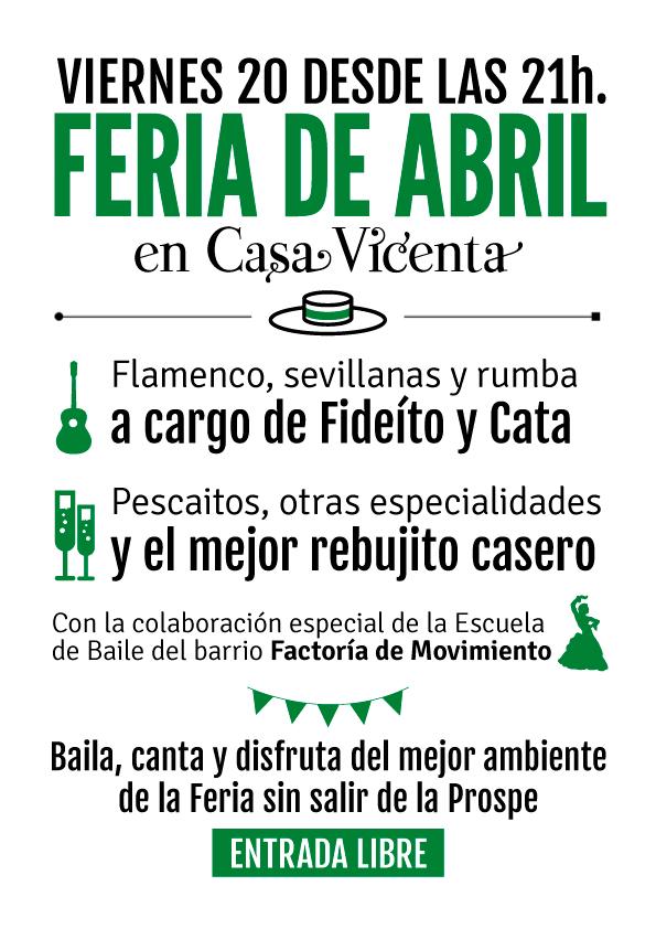 Feria de Abril Casa Vicenta Restaurante Madrid