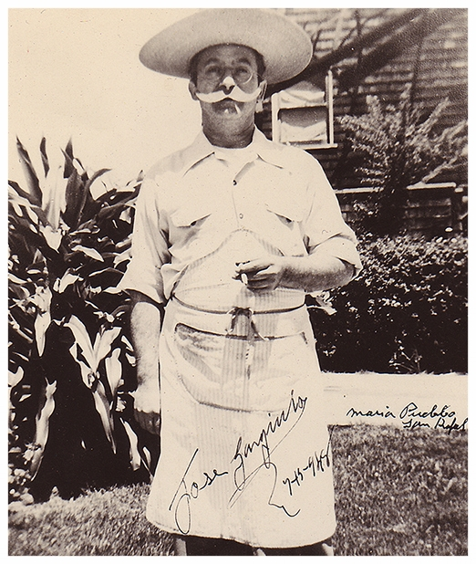 Jose Gargiulo at Maria's Pueblo, 1948