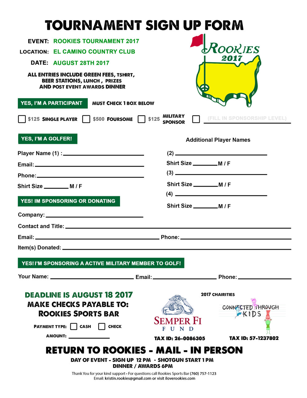 Registration Form - DEADLINE for application August 18th 2017