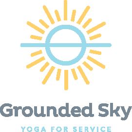 Grounded Sky yoga business logo