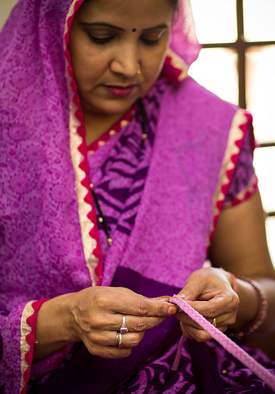 An artisan working at Meher Road Project (Photo credit: Meher Road Foundation)