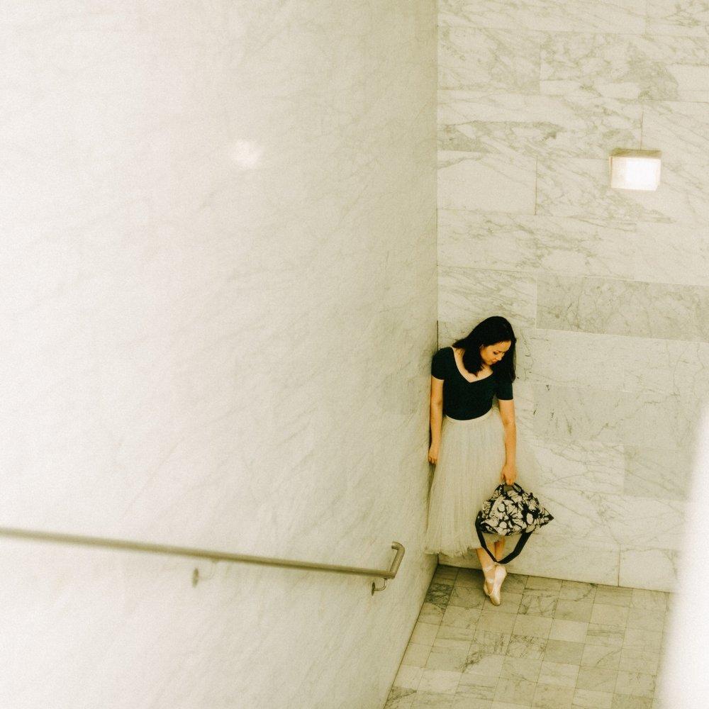 Agnes with  Tulisan  bag carried by  Toko-Toko