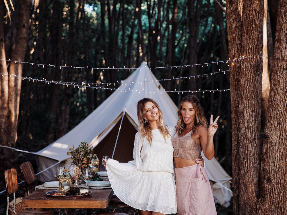 My partner in crime💕 www.emelinaah.com Styling - Blush & Ochre  Bell Tent - Breathe Bell Tents