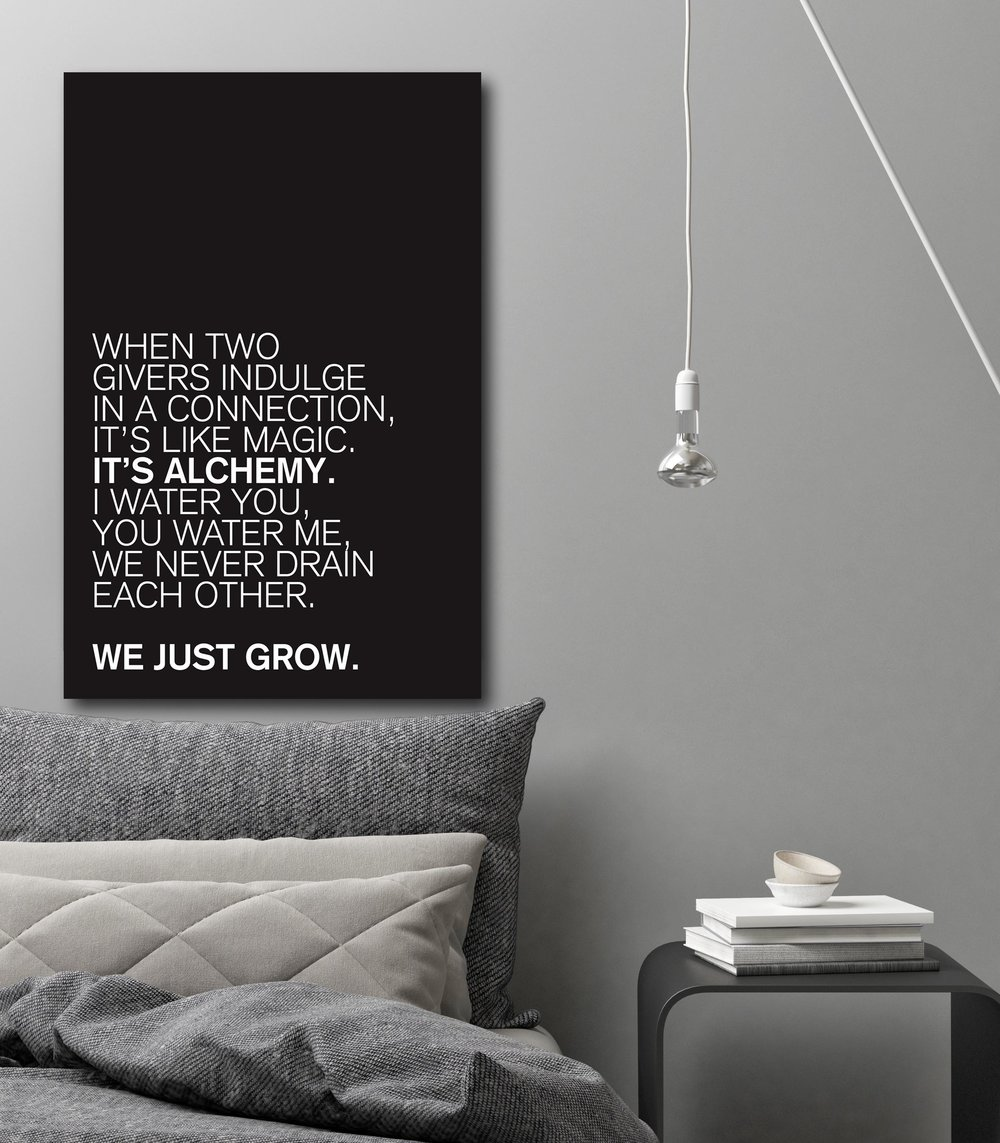 Alchemy Lovers Quote on canvas