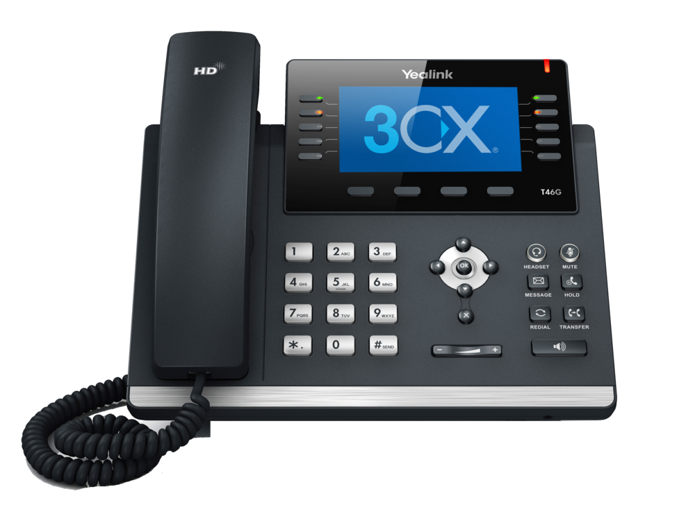 Full Color Screens w/ Gigabit Speeds $100ea and up.  3CX integrates with most IP Phones, Yealink, Fanvil, and more...