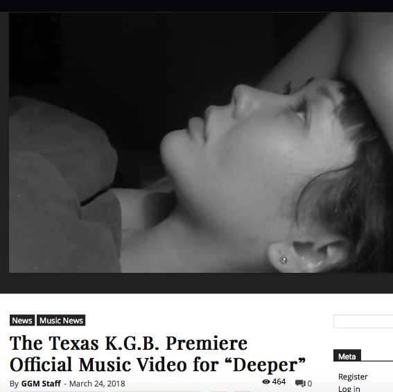 "Girl Guitar Magazine Premiere of ""Deeper"" Music Video  March 24, 2018"