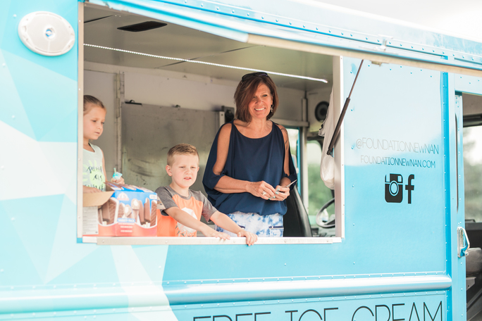 Kids love to serve on the ice-cream truck!
