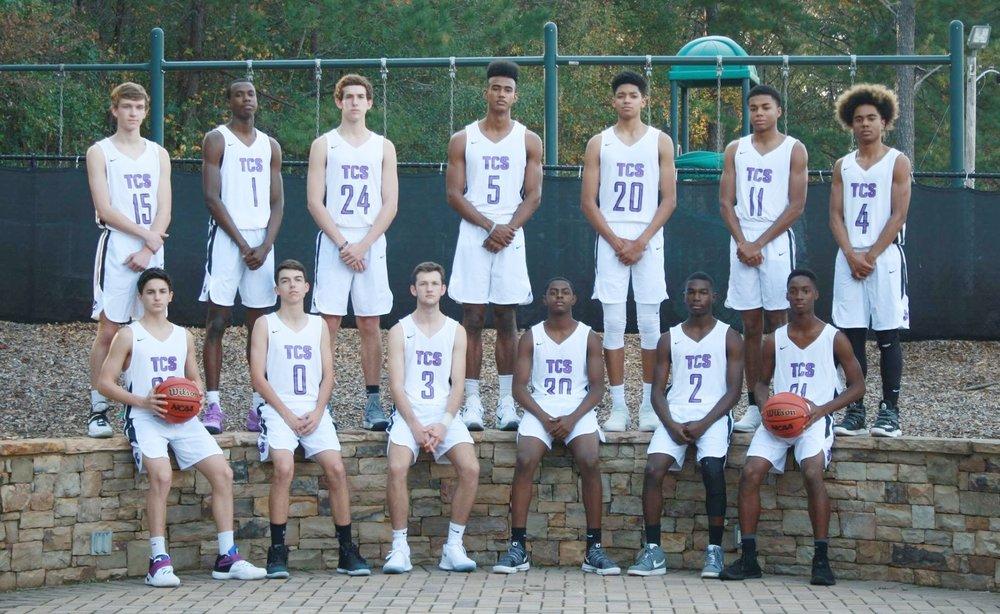 2017-2018 Trinity Men's Varsity Basketball Team
