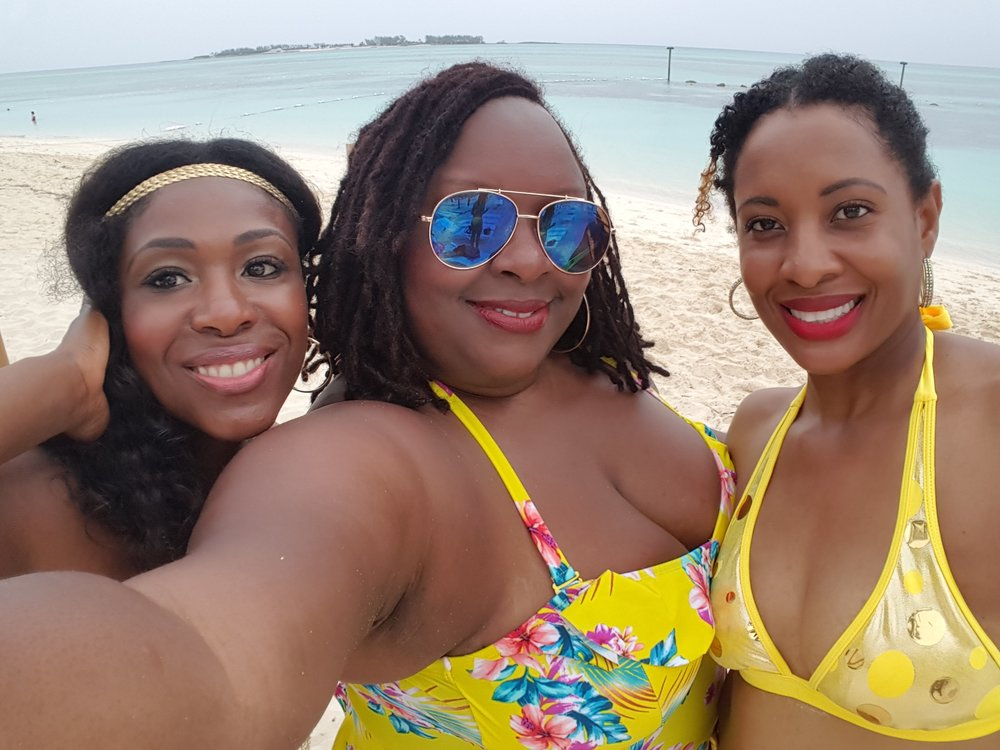 Chillin with my girls in Nassau Bahamas.