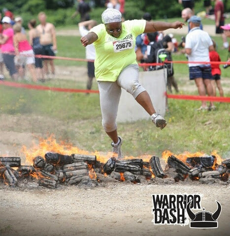 Jumping over fire like the badass ninja that I am!!
