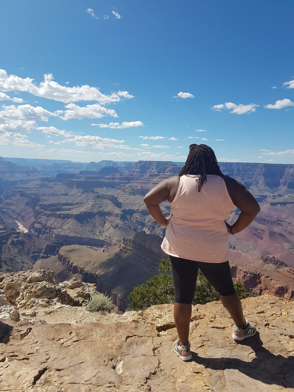 I felt like I was on top of the world @ the Grand  Canyon