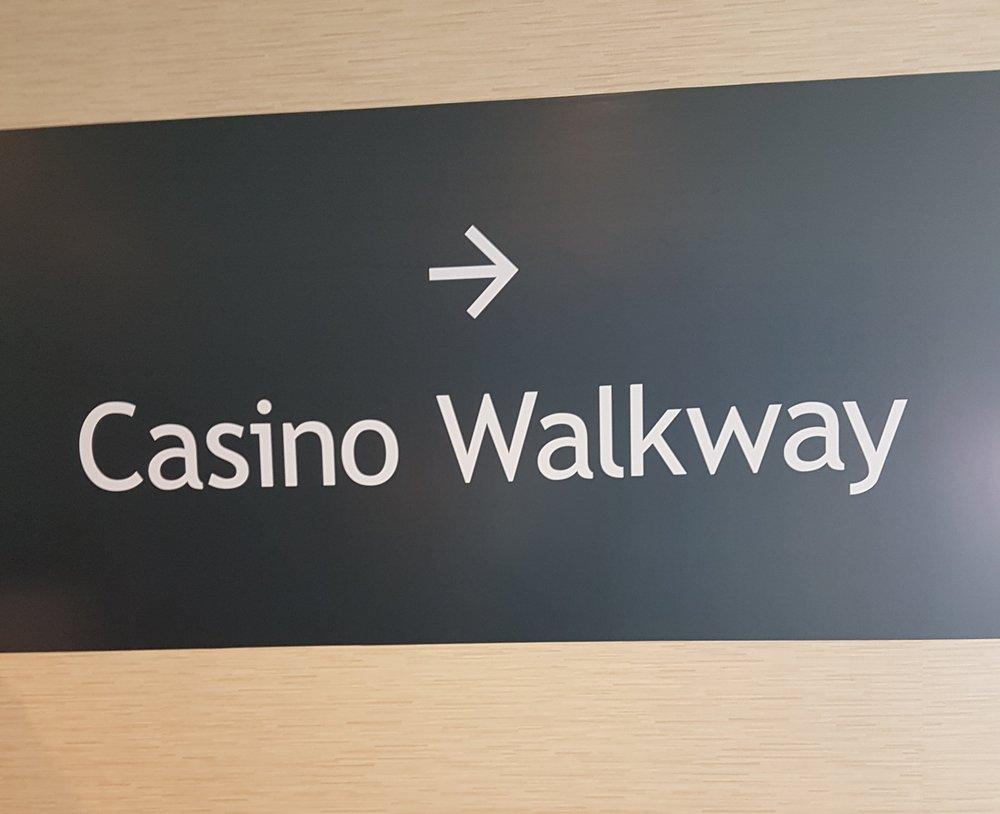 Indoor walkway to casino