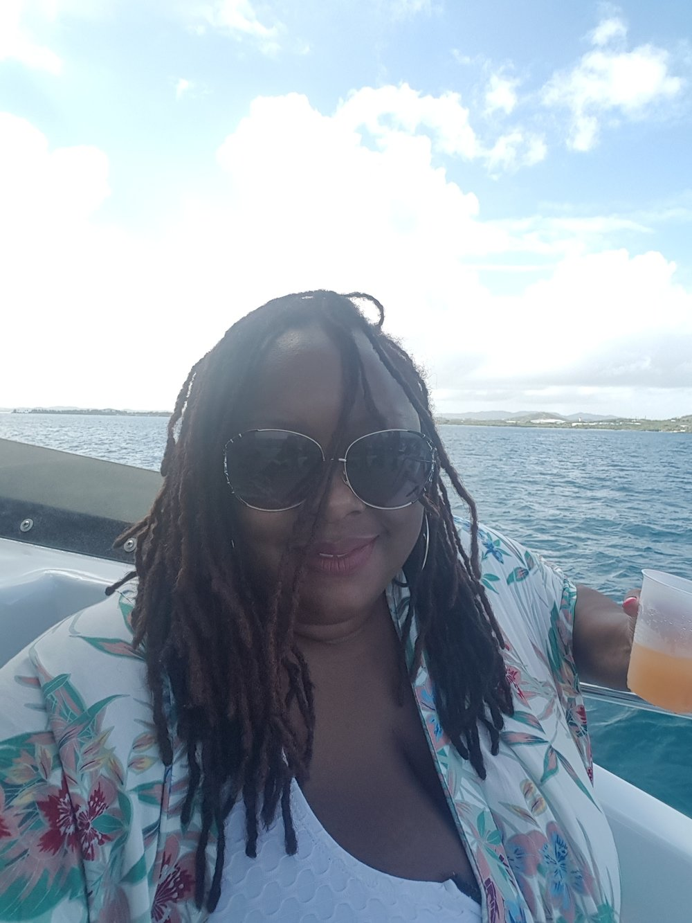 I was a hot mess on the boat!