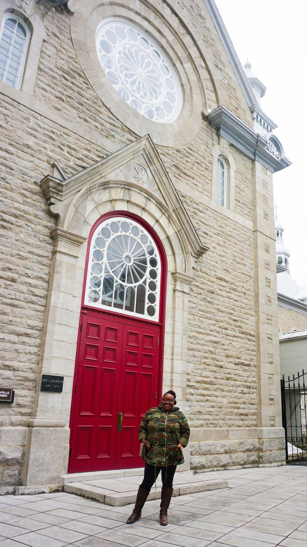 Quebec City has beautiful churches.