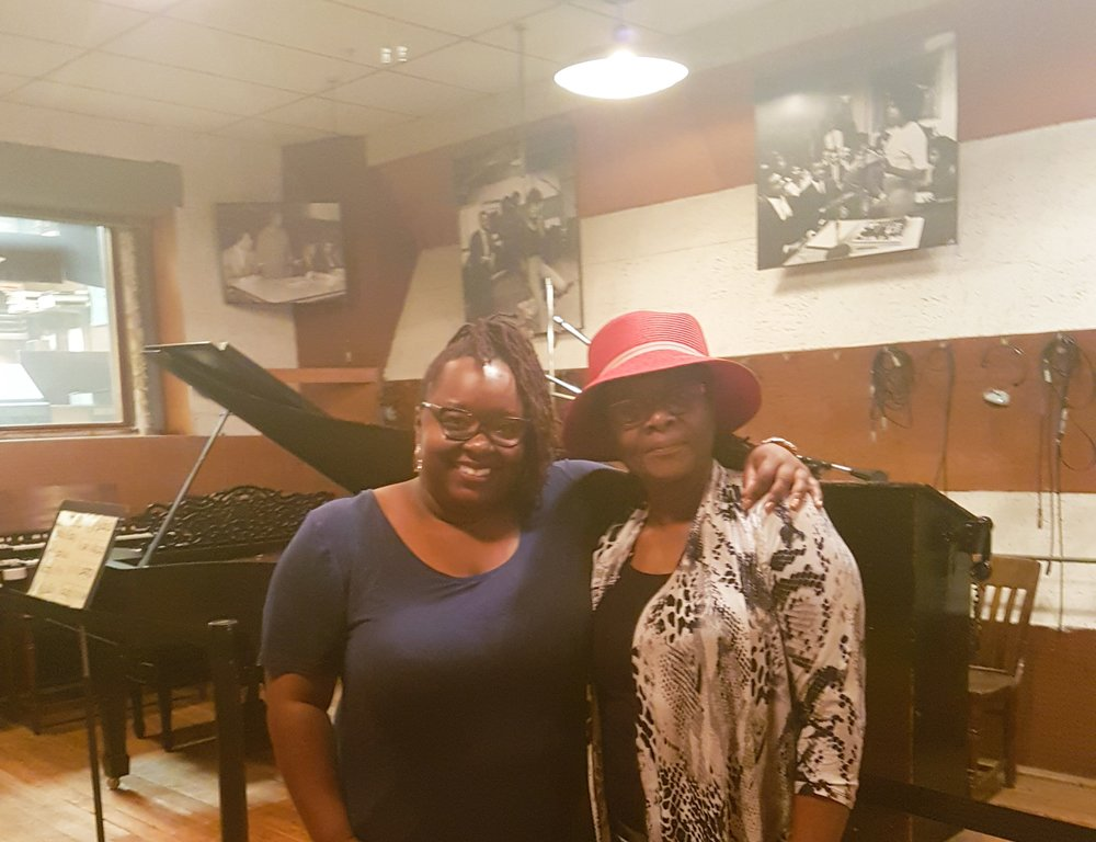 Mommy and I in the recording studio. I really should have dropped a couple of bars!