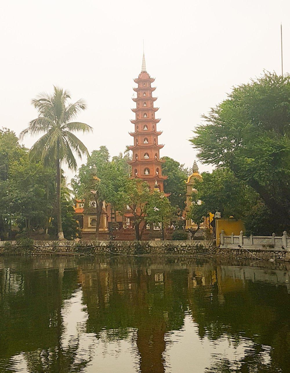 Visiting a Pagoda in Hanoi