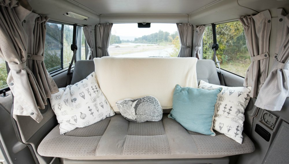 The back seat in Weekenders is extra wide. To reserve this van, the Metolius, simply click   here   or the   Reserve Now   link above.