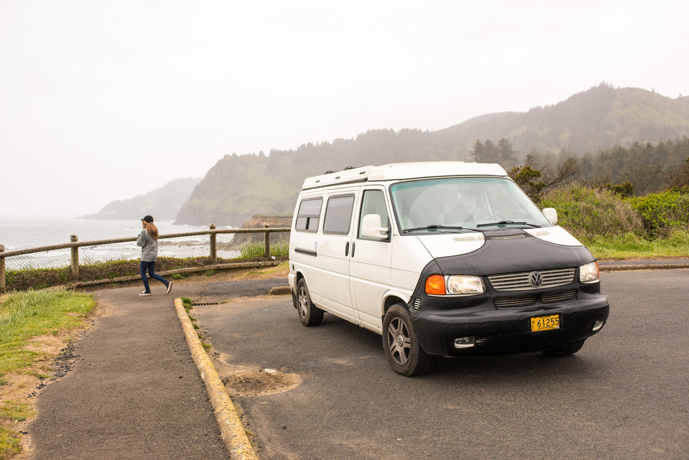 The Grand Ronde in search of whales in Yachats, Oregon.