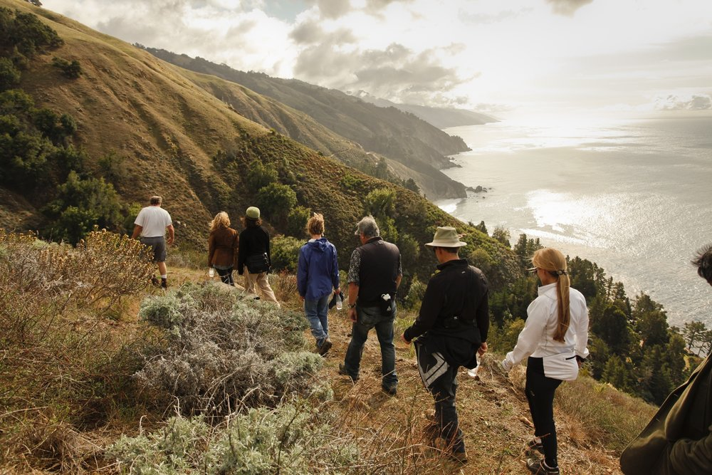 """Hiking with Stemware"" event at  Big Sur Food and Wine Festival"