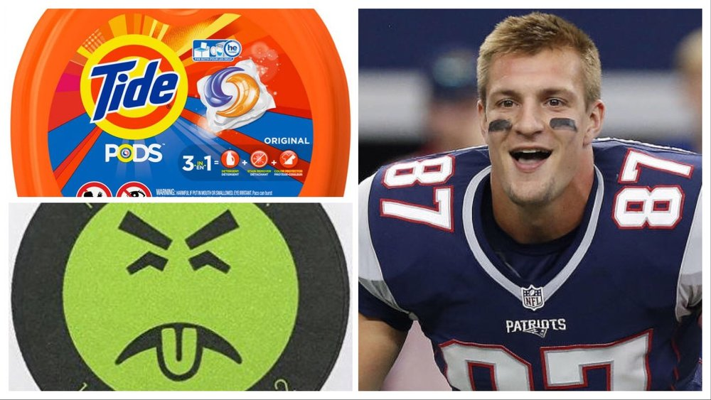 gronk our new mr yuck gives us a psa on the dangers of eating
