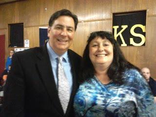 Minelli with Pittsburgh mayor, Bill Peduto