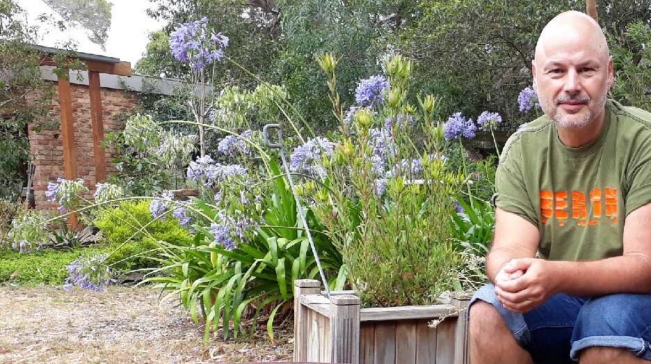 Horst Wagenfeld in the garden