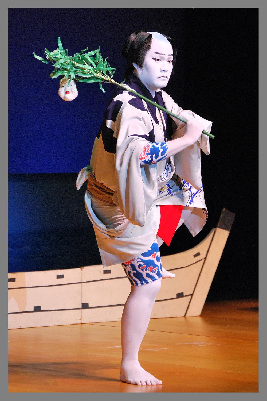 "Tokiwazu ""Kaminari Sendō"" (常磐津「雷船頭」) Nakamura Gankyō (AKA Bandō Hirohichirō)"