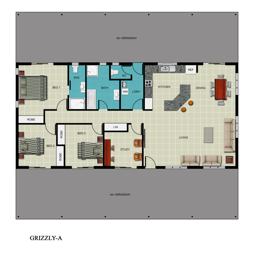 Grizzly-A Floor Plan