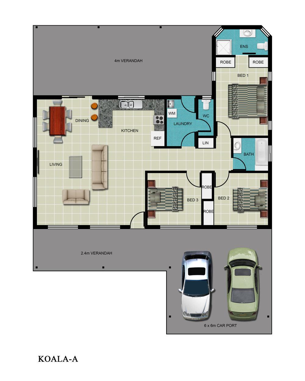 Koala-A Floor Plan