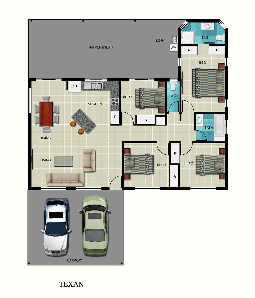 Texan Floor Plan