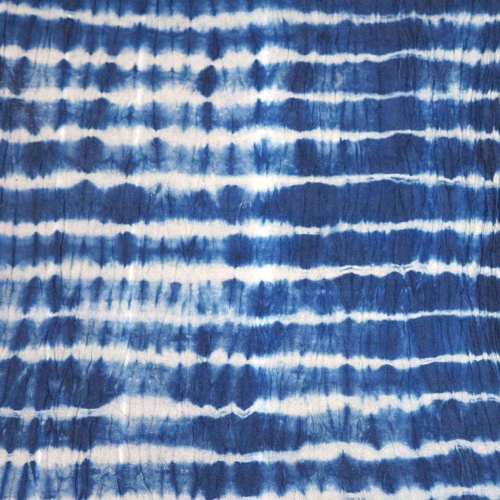 100% natural Indigo dyed on linen