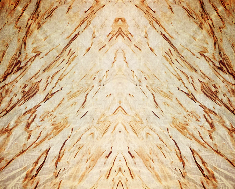 rust dye on linen