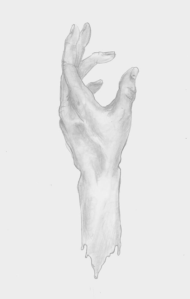 "DIEGO MONTOYA    ""SWEET HAND""   Pencil on paper"