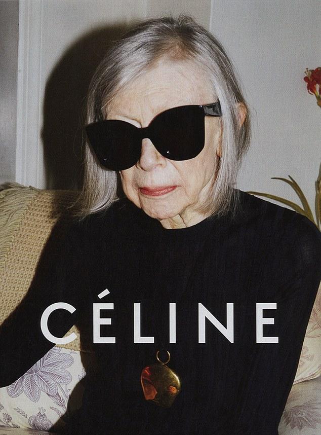 La escritora Joan Didion en campaña para Céline
