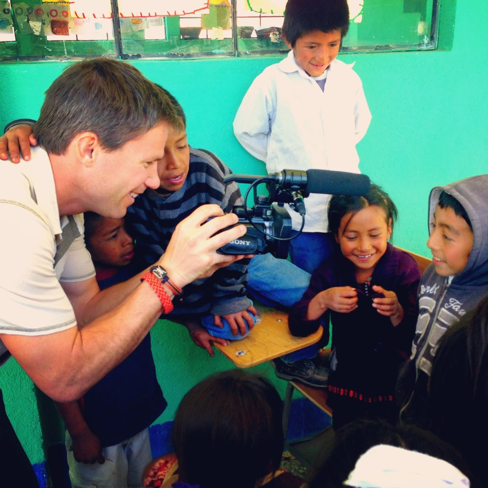 Filming in Guatemala, creating promotional content for Cooperative for Education