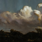 'Brown Cloud', oil on canvas, 137 x 137cm, $3,800