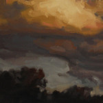 'Golden Cloud' (study), oil on canvas, 30 x 60cm, $1,500
