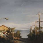 'Stretching Shadows' (study), oil on canvas, 30 x 40cm, $1,000