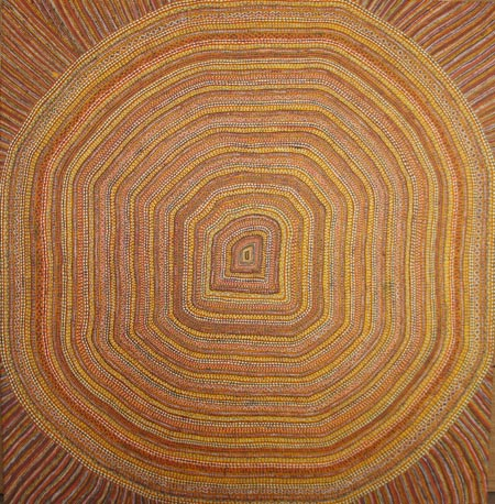 Rosina Tirak (with assistance from Regina Wilson), Sun Mat, 2004, synthetic polymer paint on canvas, 120 x 120 cm, $4,500