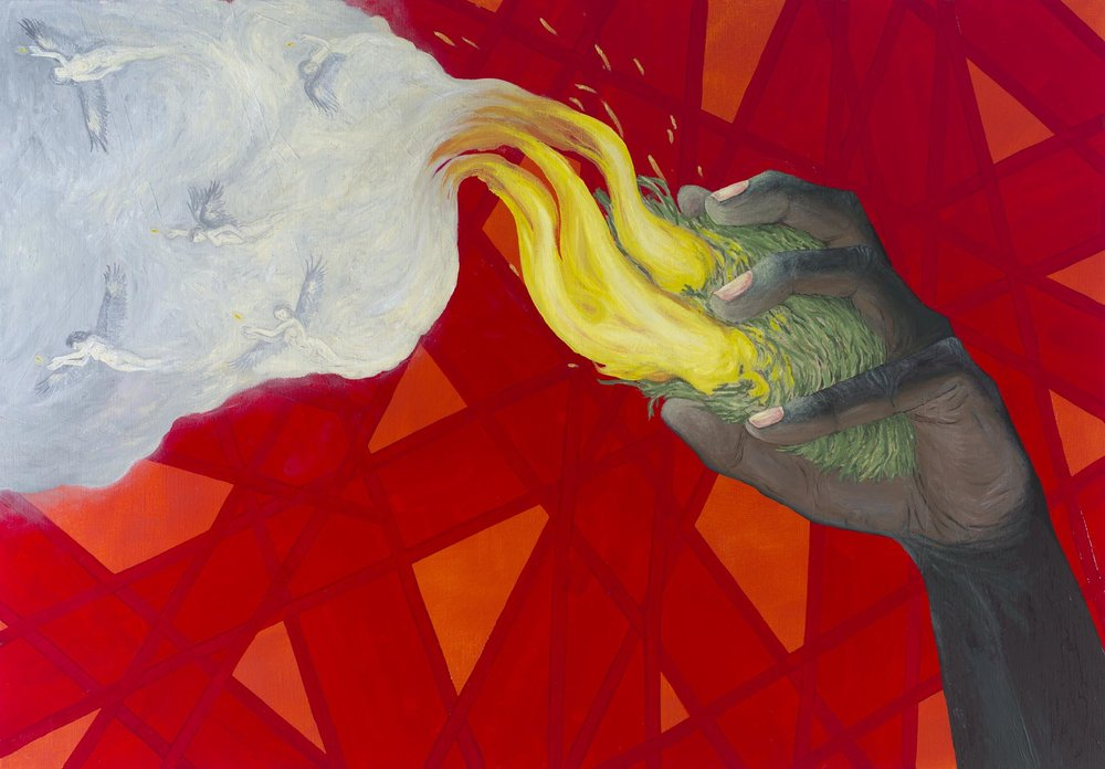 Ryan Presley, Possession, 2012, Oil on Linen, 100 x 70.5 cm