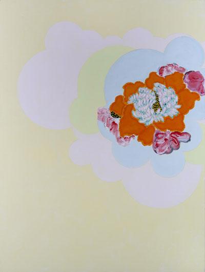 Daniel Mafe, Grandiflora II, acrylic on canvas 200 x 150cm