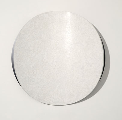 Marion Borgelt, Lunar Warp No13 (2010), duck egg shell, polyurethane, MDF, 95 cm x 21.5 cm