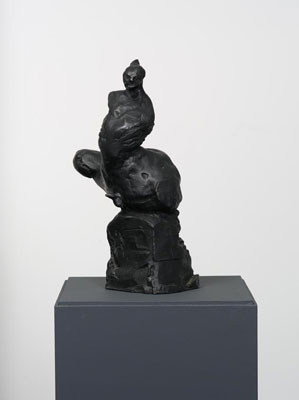 Krista Berga, One Day I will Strike Birds from the Sky I, releasing editions 2/9, 3/9 and 4/9, bronze, 40 x 20 x 14cm approx.