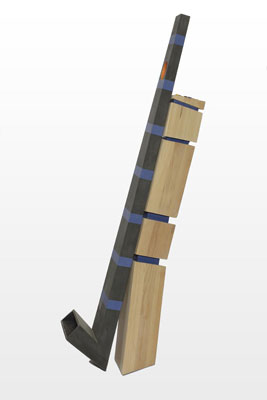 Stephen Hart, Roger That (2010), carved and polychromed timber, 195 x 80 x 40 cm