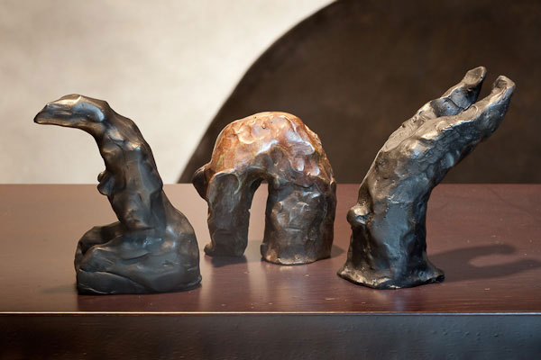 Judith Wright, Proposition #4 (2010), bronze sculpture, 10 x 12cm each (variable), set of 3