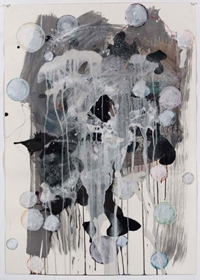 Daniel Mafe, Untitled #1 (2008), acrylic, pencil and charcoal on paper, 122 x 86cm