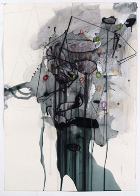 Daniel Mafe, Untitled #5 (2008), acrylic, pencil and charcoal on paper, 122 x 86cm