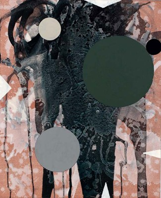 Daniel Mafe, Untitled #11 (2008), acrylic on canvas, 56 x 45cm